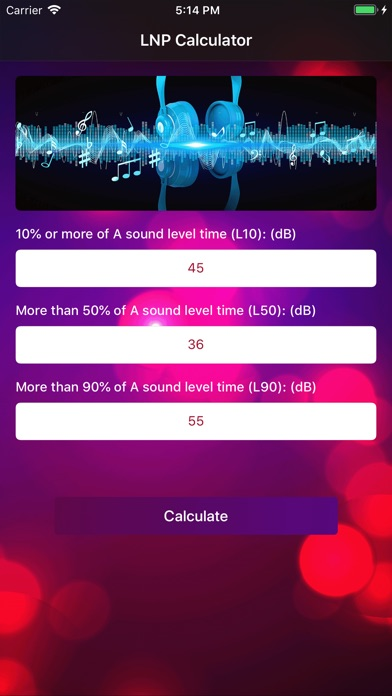 Screenshot for LNP Calculator in United States App Store