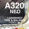 A320 NEO LOADSHEET Y186 4z
