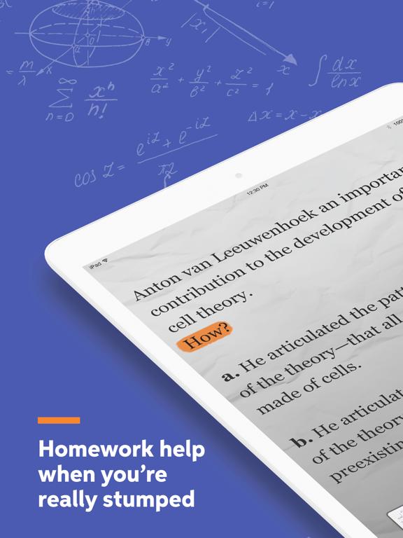 Chegg Study - Homework Help screenshot