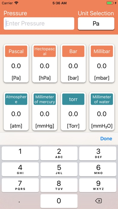 Screenshot for Pressure Units Converter in Belgium App Store