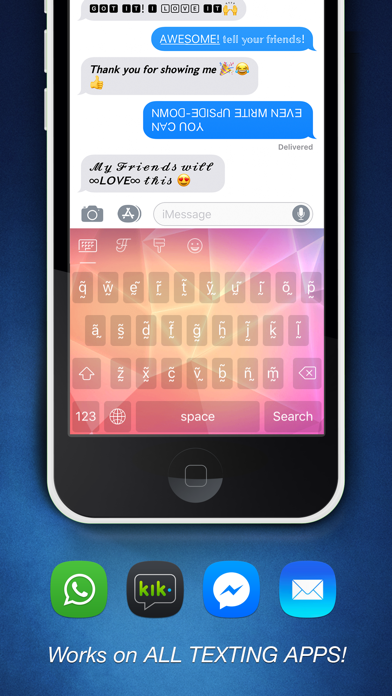 Cool Fonts Pro - Change the Font on Whatsapp Text Messages, Facebook chat, Twitter and Instagram Screenshot 3