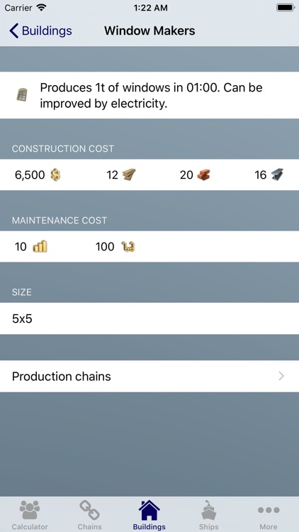 Production Calc. for Anno 1800 screenshot-3