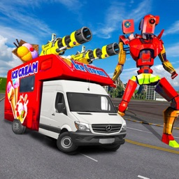 Robot Hero Van Transform Fight