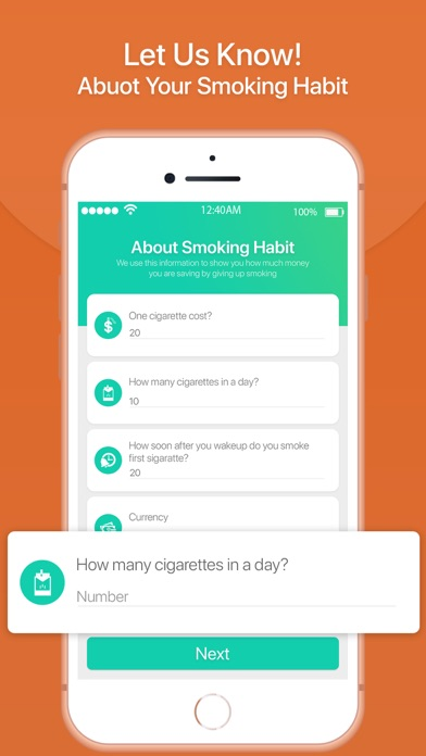 Quit Smoking Tracker screenshot one