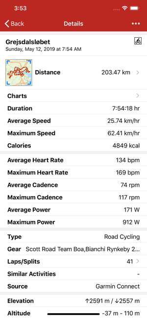 ‎RunGap - Workout Data Manager Screenshot