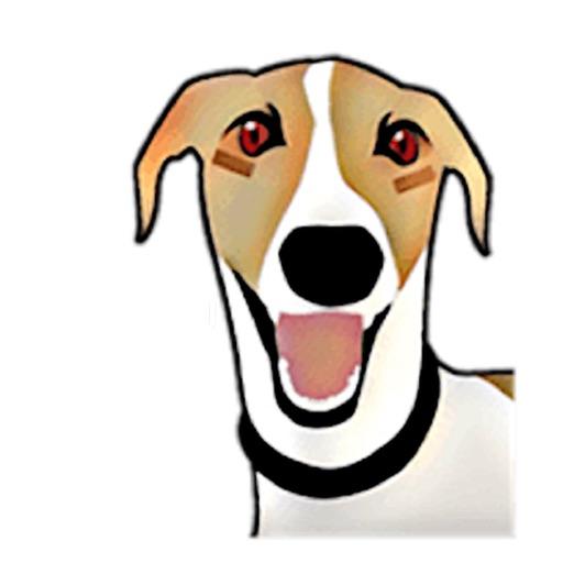 English Whippet Dog Sticker