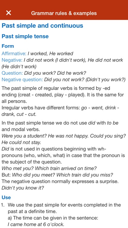 Learn English grammar tenses screenshot-4