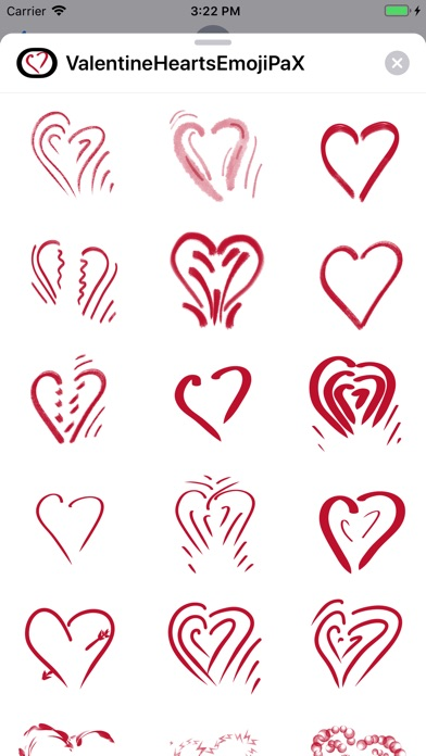Screenshot for Valentine Hearts Emoji PaX in United States App Store