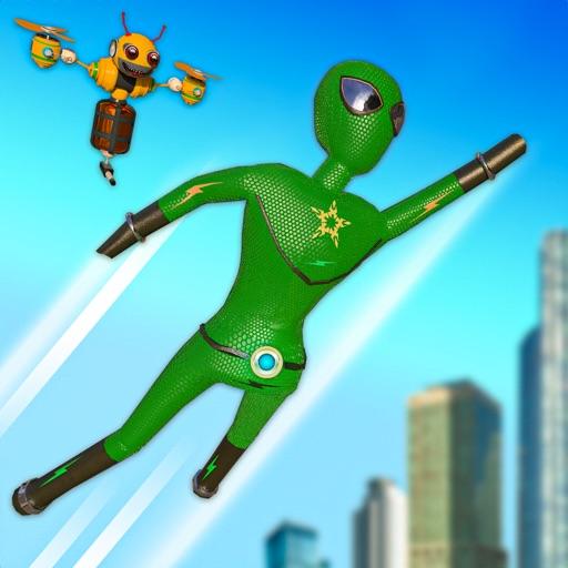 Stickman Superhero City Fight