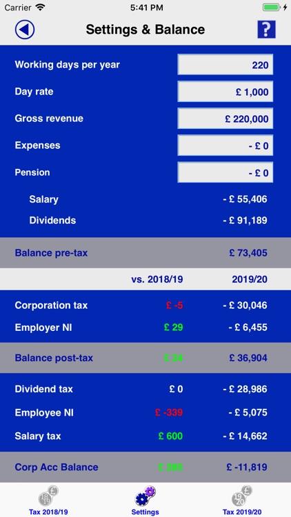 Contractor Tax Calc UK 2019/20 screenshot-3