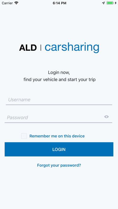 Screenshot of ALD carsharing2