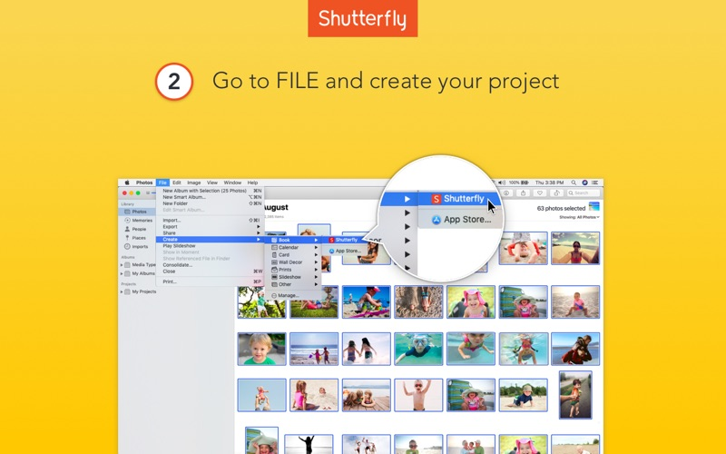 Shutterfly iphone images