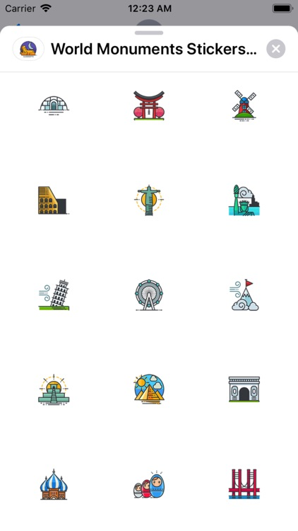 World Monuments Stickers Pack