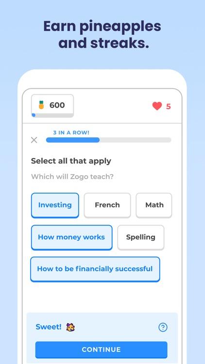 Zogo: Finance & Money Lessons screenshot-4