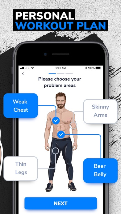 Screenshot for BetterMen: Workout Trainer in Czech Republic App Store
