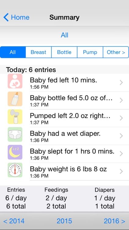 Baby Loggy - newborn care log screenshot-3