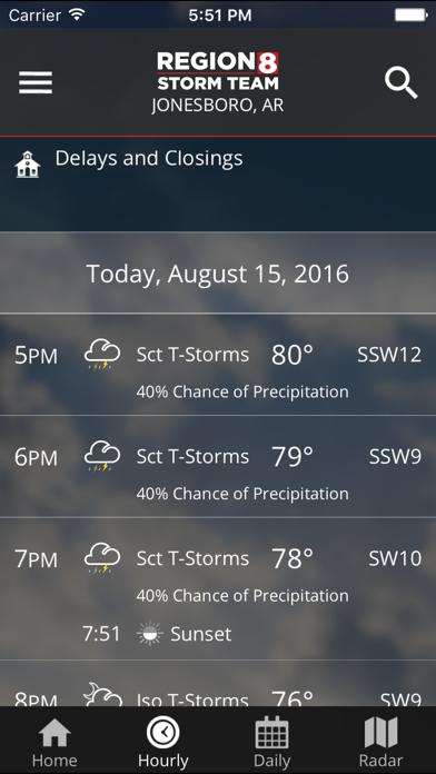 Kait Region 8 Weather review screenshots