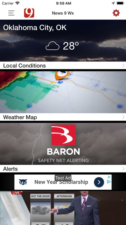 News 9 Weather by Griffin Communications, L L C