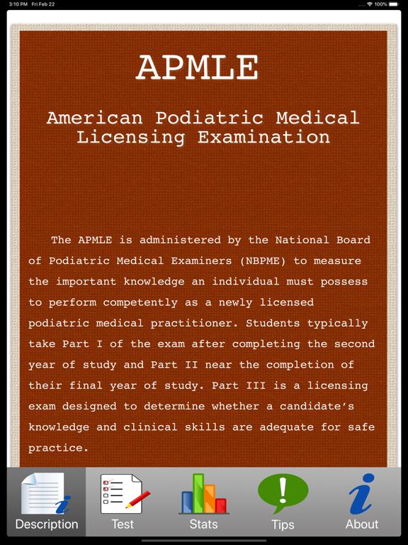 APMLE Tests Screenshots