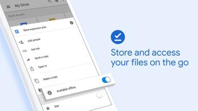 Google Drive screenshot for iPhone