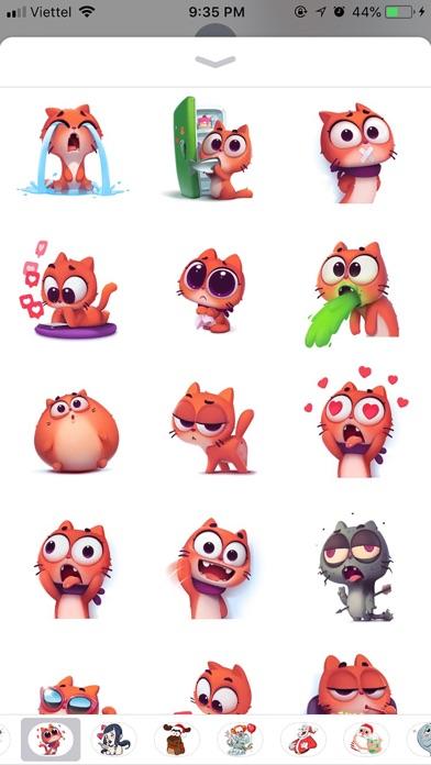 Cat Cute Pun Funny Stickers screenshot 2