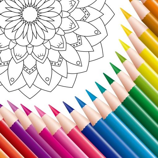 Coloring Book: Mandala, Pixel