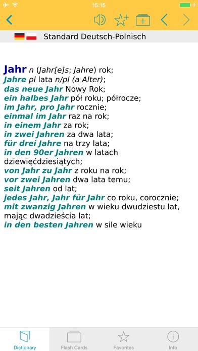 German Polish Dictionary screenshot one