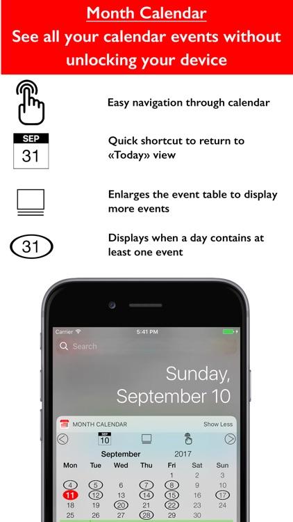 The Calendar Widget Lite