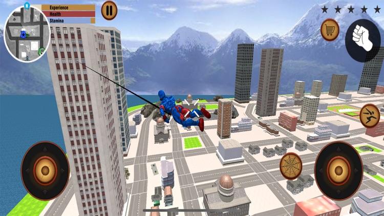 Flying Spider Stickman hero