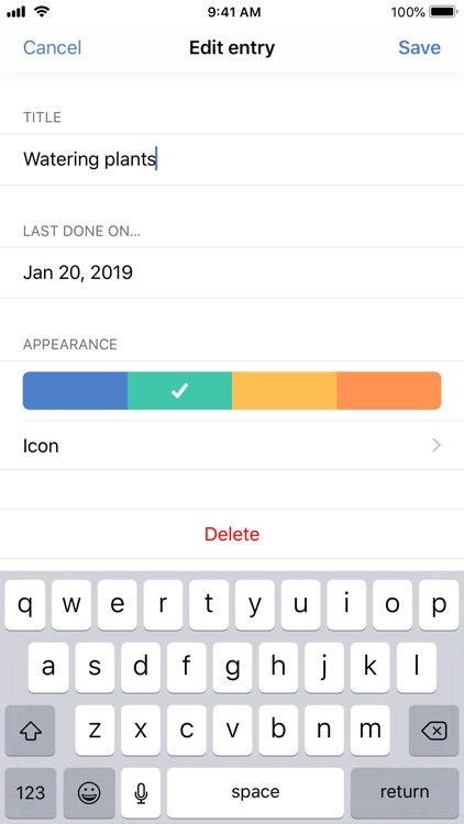 The Last Time - Days tracker