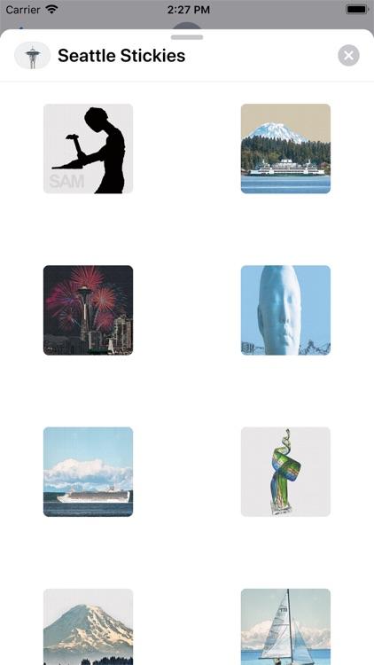 Seattle Stickies for iMessage screenshot-3