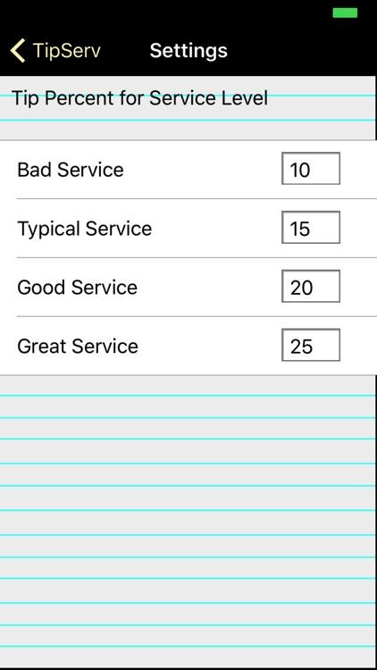TipServ - Tip Calculator