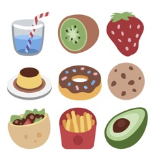 100 Food Stickers