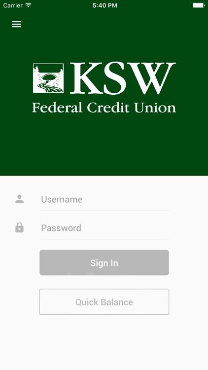 KSW FCU Mobile Banking