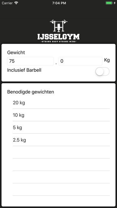 IJsselgym Weight Calculator