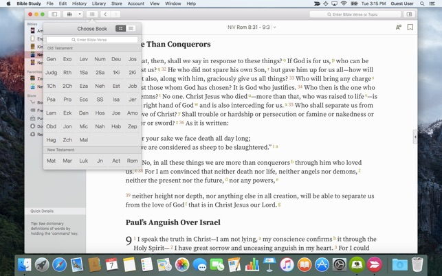 Bible Study on the Mac App Store
