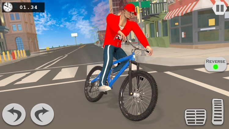 Pizza Delivery Boy Driving Sim