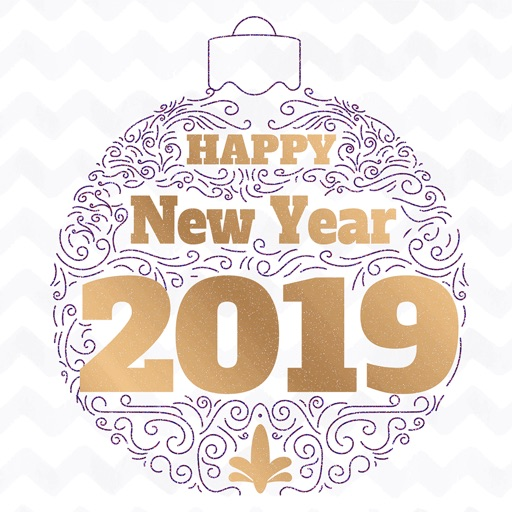 Happy New Year 2019 - Animated icon