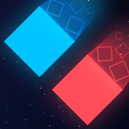 Duo Square - red and blue