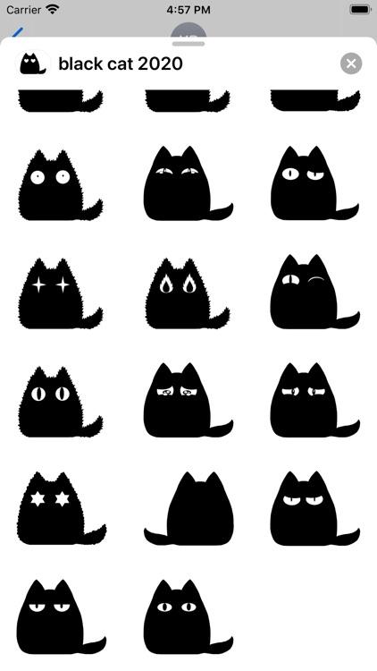 Black cat stickers - Cute emo