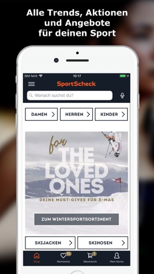 Sportscheck club app