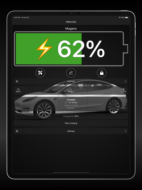 Watch app for Tesla