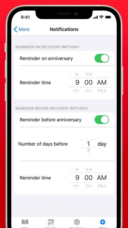 Recovery Birthdays screenshot-3
