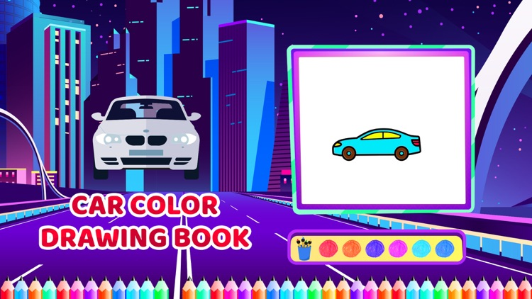 Car Colour Drawing Book screenshot-3