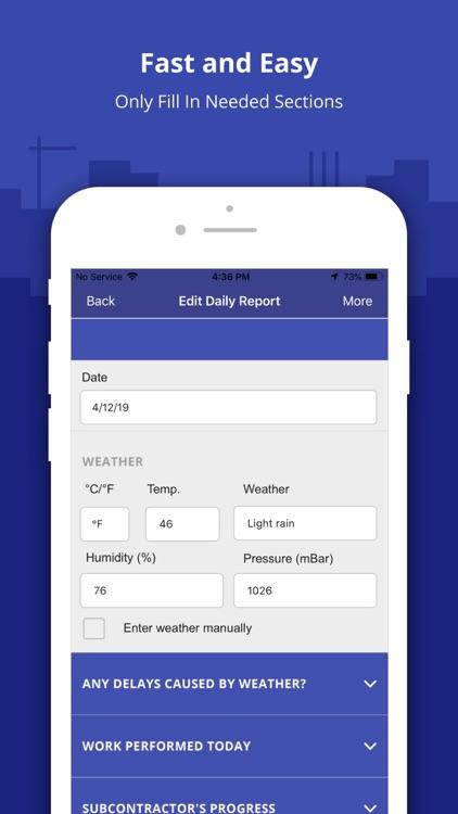 Construction Daily Log App screenshot-3