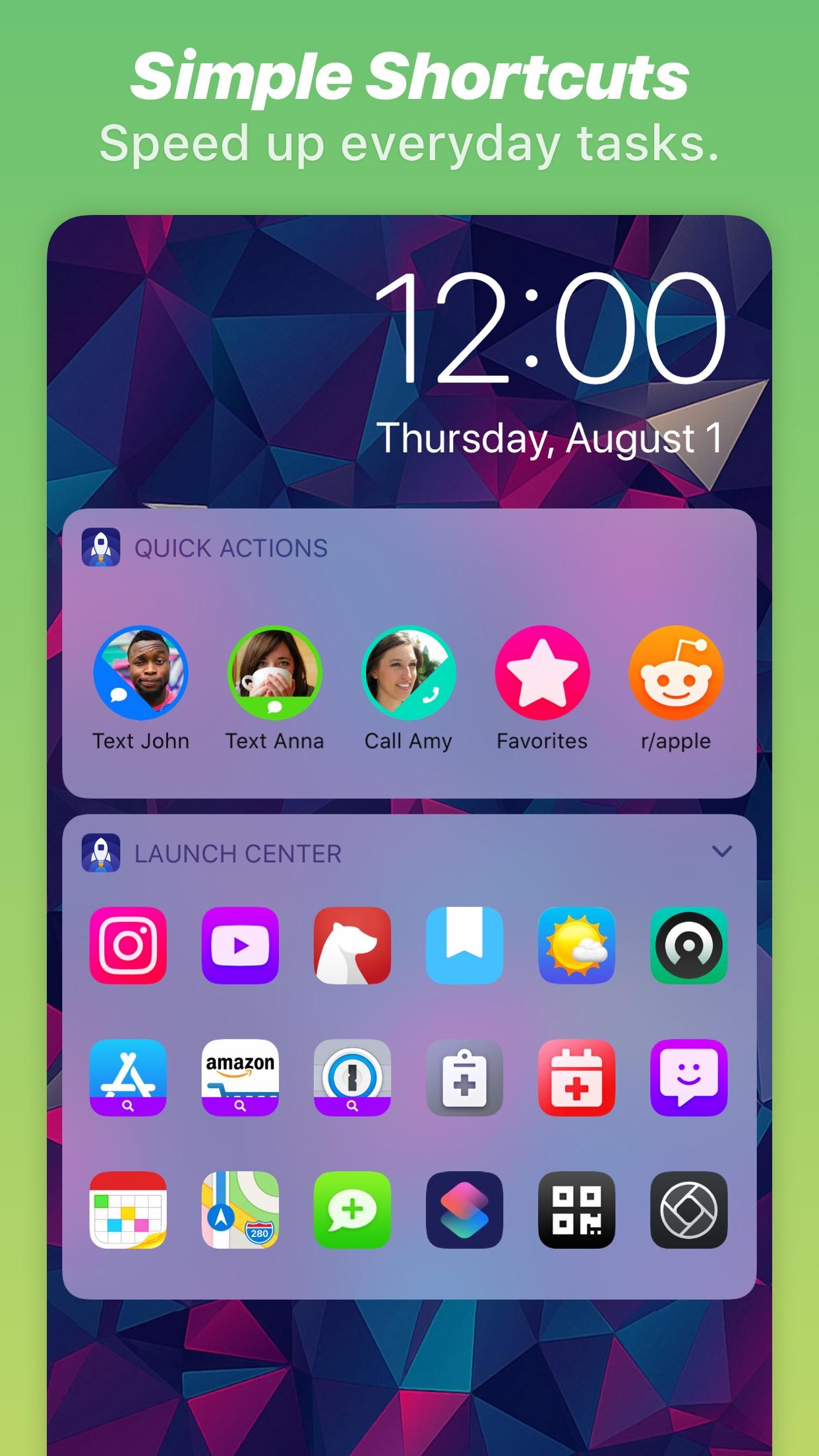 Screenshot do app Launch Center Pro - Icon Maker