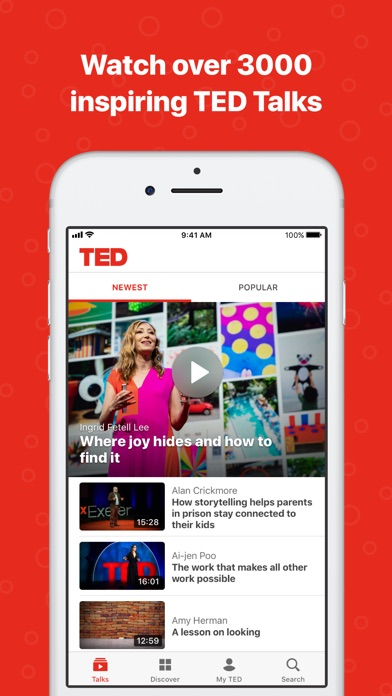 Screenshot for TED in United States App Store