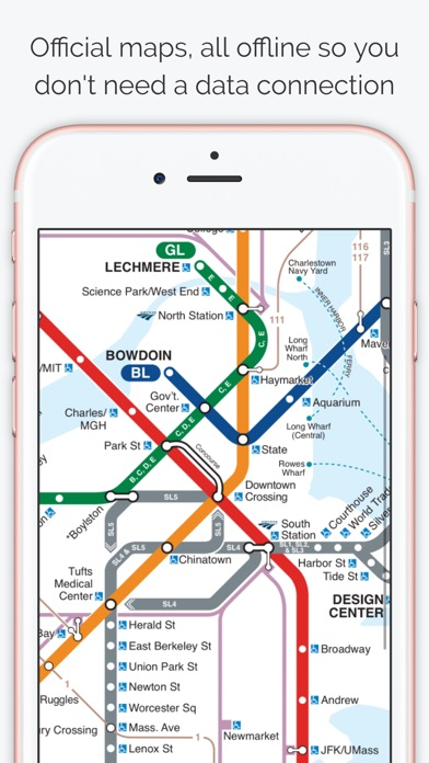 Boston Subway Map The T App Price Drops
