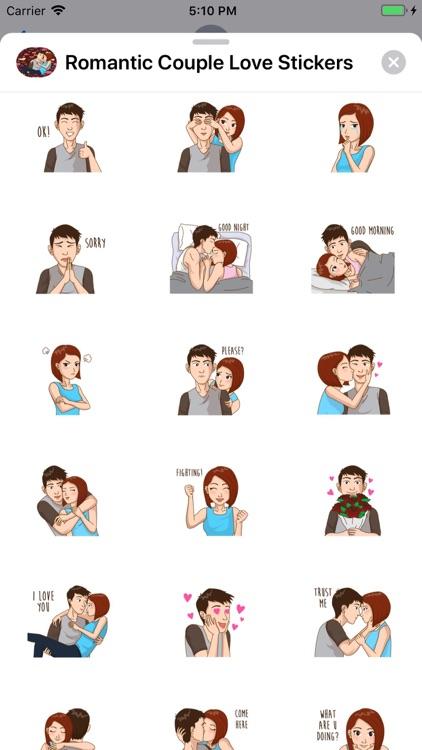 Romantic Couple Love Stickers