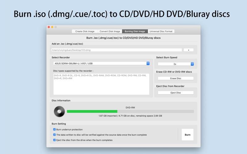 Smart Disk Image Utilities Screenshots